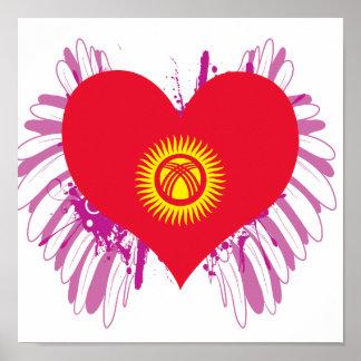 Buy Kyrgyzstan Flag Poster