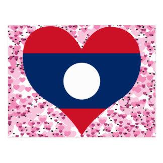 Buy Laos Flag Postcard