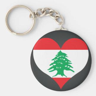 Buy Lebanon Flag Basic Round Button Keychain