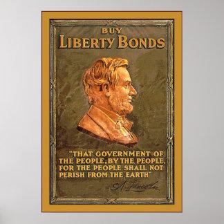 Buy Liberty Bonds ~ Vintage WW1 Poster