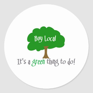 Buy Local Classic Round Sticker