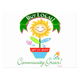 Buy Local Community Grows Postcard