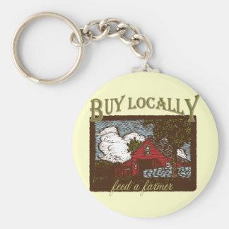 Buy Local, Feed a Farmer Basic Round Button Keychain
