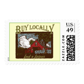Buy Local, Feed a Farmer Postage Stamps