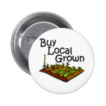 Buy Local Grown Produce black 2 Inch Round Button