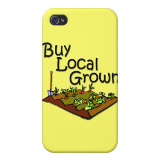 Buy Local Grown Produce black iPhone 4/4S Covers