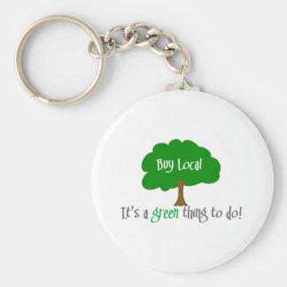 Buy Local Keychain