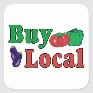 Buy Local Square Sticker