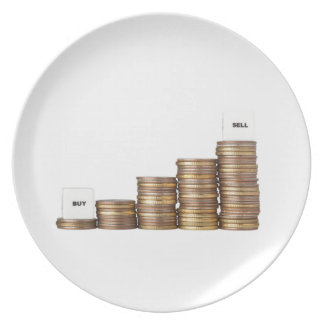 Buy low sell high dinner plate