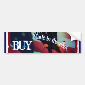 Buy Made in the USA Bumper Sticker