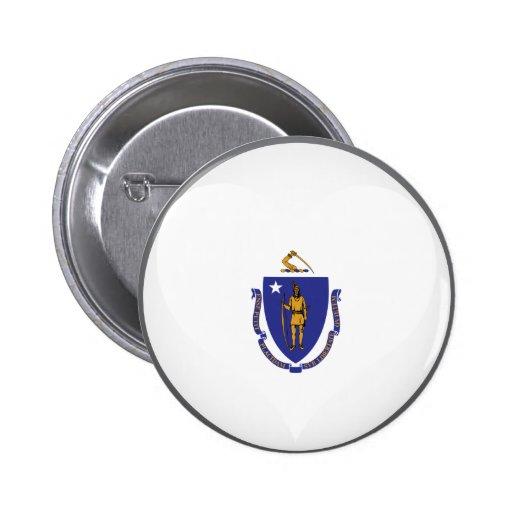 Buy Massachusetts Flag Pinback Button