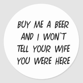 Buy Me A Beer Classic Round Sticker