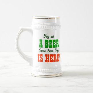 Buy Me a Beer Green Beer Day 18 Oz Beer Stein