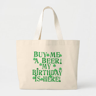 Buy Me a Beer My Birthday is Here Canvas Bags
