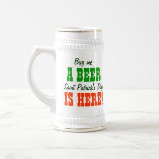 Buy Me a Beer Saint Patricks Day 18 Oz Beer Stein
