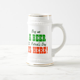 Buy Me a Beer St Patricks Day 18 Oz Beer Stein