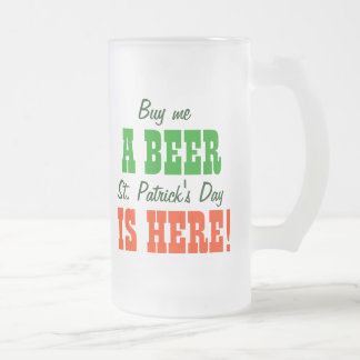 Buy Me a Beer St Patricks Day Mug