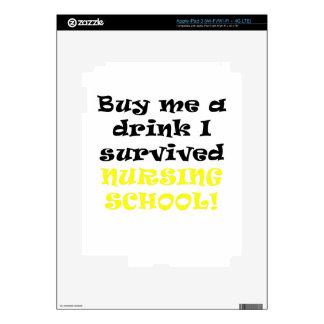 Buy me a Drink I survived Nursing School Skins For iPad 3