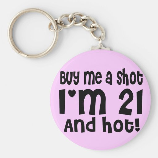 Buy me a shot keychain