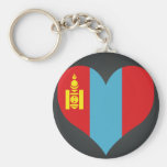 Buy Mongolia Flag Basic Round Button Keychain