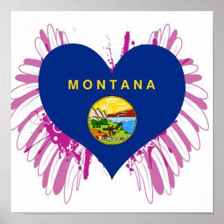 Buy Montana Flag Poster