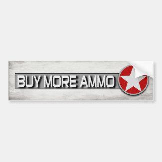 Buy More Ammo Funny 2nd Amendment Bumper Sticker