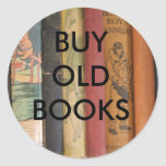 BUY OLD BOOKS ROUND STICKERS