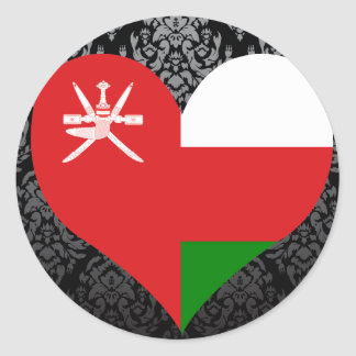 Buy Oman Flag Classic Round Sticker