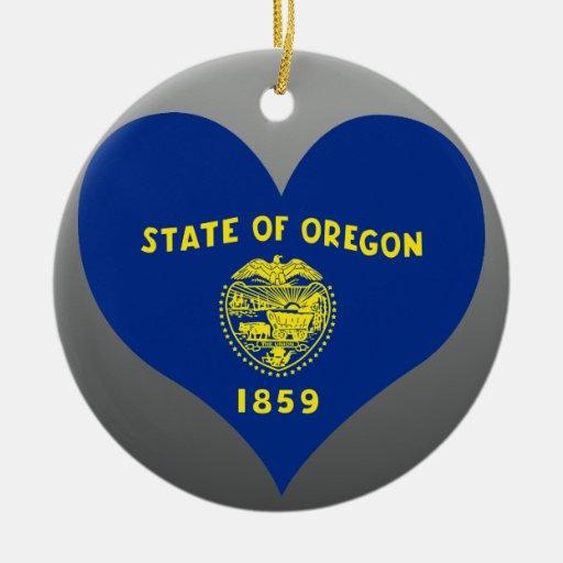 Buy Oregon Flag Double-Sided Ceramic Round Christmas Ornament