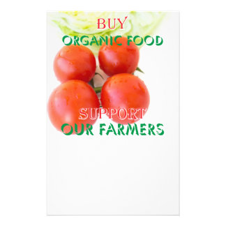 Buy organic food flyer