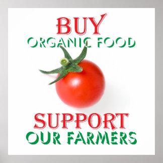 Buy organic food poster
