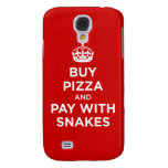 Buy Pizza and Pay with Snakes - Keep Calm Parody Samsung Galaxy S4 Cover