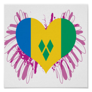 Buy Saint Vincent and the Grenadines Flag Poster