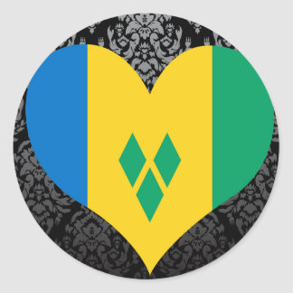 Buy Saint Vincent and the Grenadines Flag Round Sticker