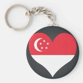 Buy Singapore Flag Basic Round Button Keychain