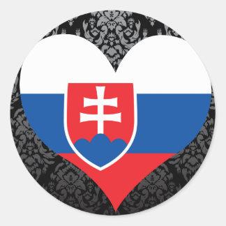 Buy Slovakia Flag Round Sticker