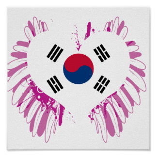 Buy South Korea Flag Poster