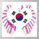 Buy South Korea Flag Posters