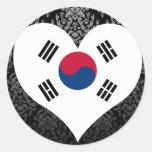Buy South Korea Flag Round Sticker