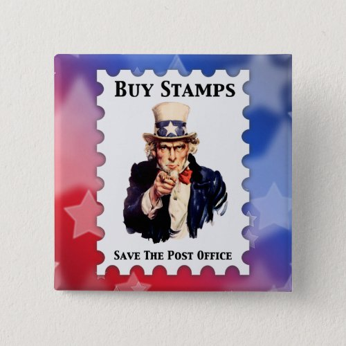 Buy Stamps Save The Post Office Button