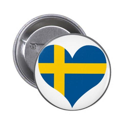 Buy Sweden Flag Pinback Button