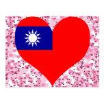 Buy Taiwan Flag Postcards