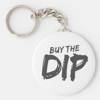 Buy the Dip Black Print Keychain