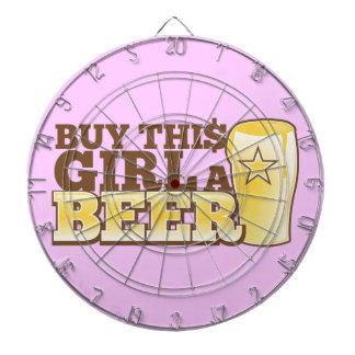 Buy This Girl a BEER! Dart Board