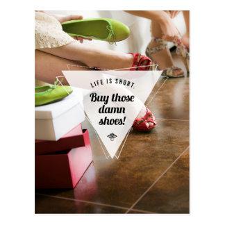 Buy Those Shoes! Inspirational Postcard