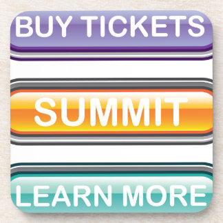 Buy tickets summit learn more buttons beverage coaster