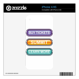 Buy tickets summit learn more buttons decal for the iPhone 4S