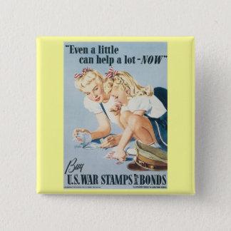 Buy U.S. War Stamps & Bonds Button