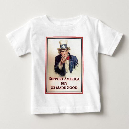 Buy US Goods Uncle Sam Poster Baby T-Shirt