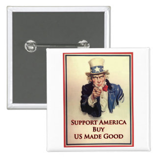 Buy US Goods Uncle Sam Poster Pinback Buttons